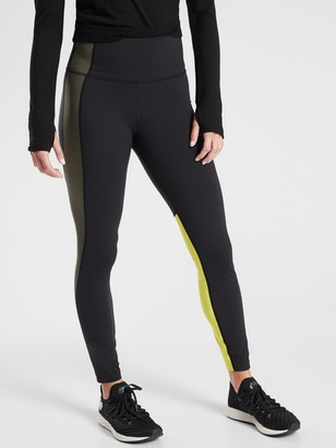 Athleta Asym Colorblock Tight In Plush Supersonic