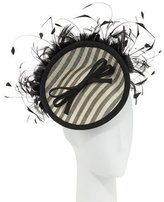 Rachel Trevor-morgan Rachel Trevor Morgan Striped Mini Disc Hat, Black