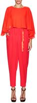 Rachel Zoe Noe Silk Overlayer Top Jumpsuit