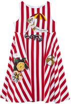 Dolce & Gabbana Red and White Stripe Beach Applique Dress