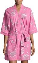 BedHead Floral-Print Short Kimono Robe, Pink Flower