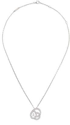Boucheron 18kt White Gold Diamond Pendant Necklace