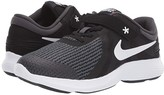 Nike FlyEase Revolution 4 Wide (Big Kid) (Black/White/Anthracite/Total Crimson) Boys Shoes