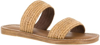 Bella Vita Leather Slide Sandals - Imo-Italy