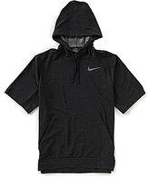 Nike Short-Sleeve Dri-Fit Fleece Hoodie