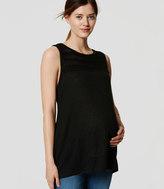 LOFT Petite Maternity Stitched Yoke Tank