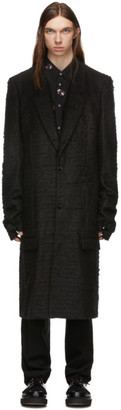 Comme des Garcons Black Wool Finger Hole Coat