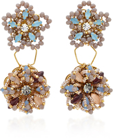Erickson Beamon Wild Flower Crystal Earrings