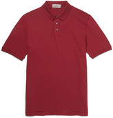 Canali Distressed Stretch-cotton Piqué Polo Shirt - Red