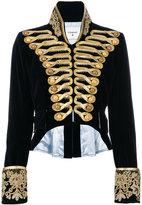 Dondup cropped velvet military jacket