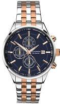 Sekonda 1107.27 Velocity Two Tone Stainless Steel Chronograph Bracelet Strap Watch, Silver/rose Gold