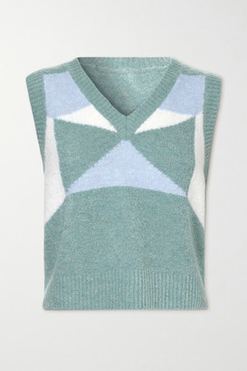 Dodo Bar Or Silviya Color-block Knitted Sweater - Blue