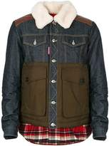 DSQUARED2 Men's Multicolor Polyamide Outerwear Jacket.