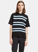 Acne Studios Men's Keris Striped Rib T-shirt In Black