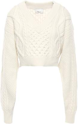 3.1 Phillip Lim Tie-back Cable-knit Wool Sweater