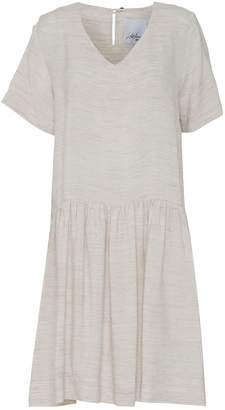 Off-White Mcverdi Loose Short Sleeved Offwhite Summer Dress