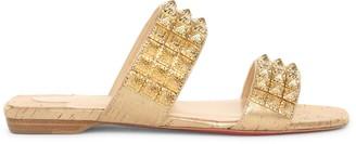 Christian Louboutin Myradiam flat liege pepite gold flat sandals