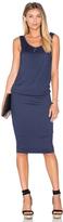 Splendid Textured Jersey Midi Dress