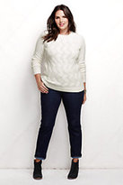 Classic Women's Plus Size Cable Drifter Sweater-Khaki
