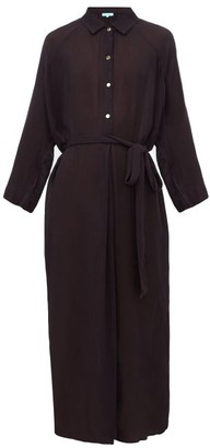 Melissa Odabash Alesha Belted Voile Midi Dress - Black