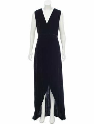 Alice + Olivia Simmons Velvet Dress Black