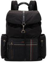 Ermenegildo Zegna Nylon Backpack with Leather Trim