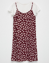 Hip Ditsy 2fer Girls Tee Dress