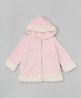 Paperdoll Pink Fleece Hooded Coat - Toddler & Girls