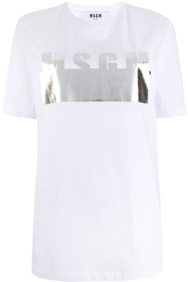 MSGM metallic print T-shirt