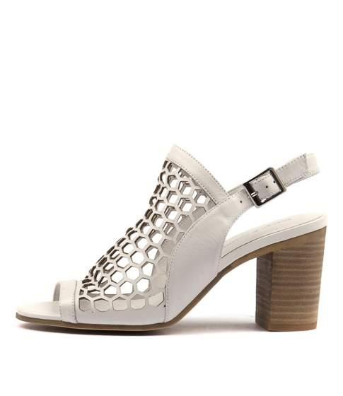 Django & Juliette Vikki White Leather