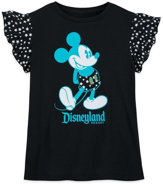 Disney Mickey Mouse Wing Sleeve T-Shirt for Girls Disneyland