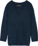 By Malene Birger Gittana Stretch-knit Sweater - Cobalt blue