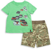 Charlie Rocket Baby Boys Race Car Tee and Shorts Set