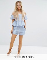 Missguided Petite Stripe Shorts