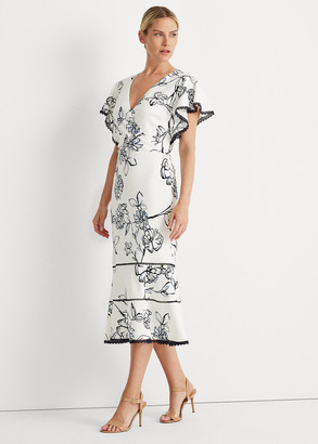 Ralph Lauren Floral Jacquard Dress