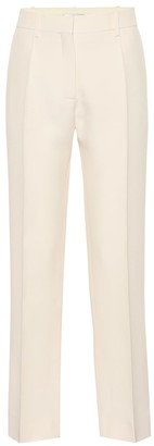 Valentino Mid-rise wool and silk pants