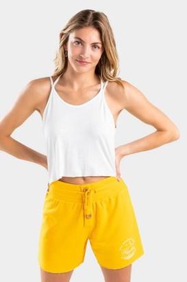 francesca's Ashton Button Lounge Shorts - Black