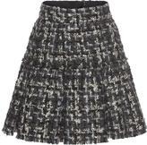 Dolce & Gabbana Pleated Tweed Miniskirt