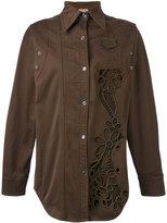 No.21 cutout shacket - women - Cotton/Polyester/Spandex/Elastane/Viscose - 38