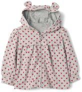 Gap Heart print zip bear hoodie