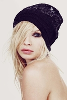 Wildfox Couture Ballroom Layered Beanie in Clean Black