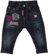 DSQUARED2 Stretch Denim Jeans With Patches