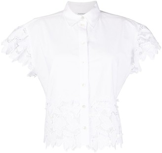 P.A.R.O.S.H. Floral Embroidered Short-Sleeved Shirt