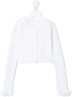 Billieblush Long-Sleeve Fitted Cardigan