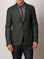 Z Zegna Boiled wool single breasted jacket