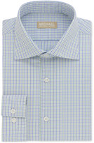 Michael Kors Men's Slim Fit Non-Iron Lemongrass Check Dress Shirt