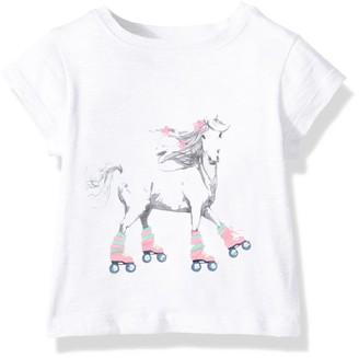 Hatley Baby Girls' Mini Short Sleeve Graphic Tees T-Shirt
