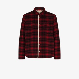 Saint Laurent Western checked shirt