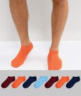 Asos Sneaker Socks In Retro Colours 7 Pack