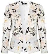 Wallis Black Floral Blazer Jacket